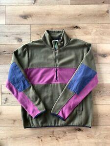 Rare Retro Urban Outfitters Multicolored Half Zip Fleece Jacket Size XL Mens