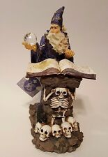 Wizard Chanting Spell W/Crystal Ball At Skull & Bone Table -Medieval Legends NWT