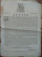 1797 MIRANDOLA CONCORDIA... SANITA': RIPRISTINO MERCATI DOPO EPIDEMIA DI BONDENO