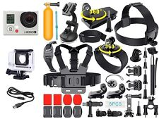 GoPro HERO 3: Black Edition Camera + 40 Pcs Extreme Sports Kit Bundle CHDHX301