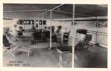 Houseboat Idler Upper Deck Real Photo Antique Postcard J72299