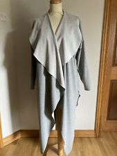 Made In Italy Lagenlook Long Grey Coat One Size