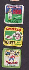 Anciennes  petites étiquettes fromage Hollande BN146116 Femme