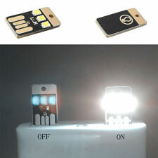 2Pcs Mini USB LED Light Pocket Card Lamp Mobile Power Camping Laptop New