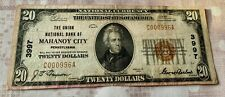 20$ THE UNION NATIONAL BANK OF MAHANOY CITY LOW SERIAL!!