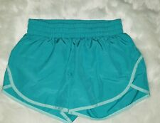 Women's Sz.S 4-6 Athletic Works Active Lined Running Shorts Aquacade Blue