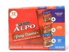 1 Box Purina 42 Oz Alpo Gravy Cravers Roast Beef Chicken Beef 12 Pouch Dog Food