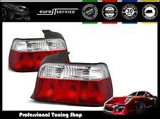 NUOVO COPPIA FANALI FARI POSTERIORI LAMPS LTBM03 BMW E36 90-99 SEDAN RED WHITE