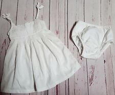BABY GAP GIRLS 12 18 MOS WHITE EYELET PORTRAIT BEACH DRESS SUMMER SLEEVELESS
