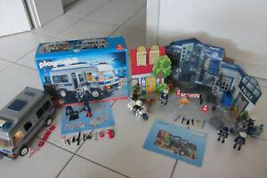 Playmobil Sets 4022, 4157, 4265 Polizei Mannschaftswagen, Räuber und Zubehör