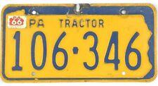 *99 CENT SALE*  1966 Pennsylvania TRACTOR License Plate #106-346 No Reserve