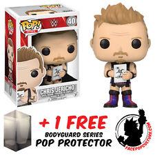 FUNKO POP WWE CHRIS JERICHO EXCLUSIVE VINYL FIGURE + FREE POP PROTECTOR