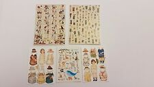 Vintage Toy Posters Cut Outs for 1 12th Scale Dollshouse Kit Dolls Toyshop Bear