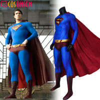 Superman Returns Superman Clark Kent Cosplay Costume Zentai Printed Jumpsuit