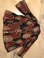 Dressbarn Dress Barn Size 3 X Brown Design Blouse