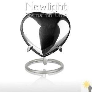 Silver Tear (3inch Heart), Keepsake Urns, Heart Keepsakes, Mini Urns