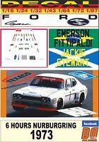 DECAL FORD CAPRI 2600 LV FITTIPALDI – STEWART NURBURGRING 1973 (05)