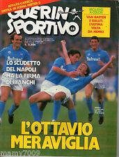 RIVISTA=GUERIN SPORTIVO=N°14 1987=SCUDETTO NAPOLI =FILM DEL CAMPIONATO 23° G.