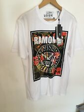 Only & Sons Mens Large Size Slim White Graphic T Shirt with Logo New