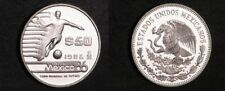 1985 Mexico Proof Silver 50 pesos-World Cup Soccer-Player/Ball