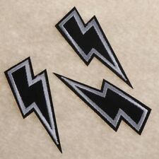 3pcs Clothing Retro Stripe Motif Appliques Lightning Embroidered Iron on Patches