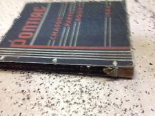 1944 GM Pontiac CHASSIS Parts Catalog Manual OEM Original RARE