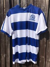 QPR Official 82 Silk Home Royal Blue And White Shirt. Large. New With Tags.