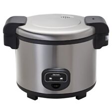 60 Cup Cool Touch Commercial Rice Cooker Stainless Steel Kitchen Cooking Large