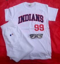 "Rick ""Wild Thing"" Vaughn Cleveland Indians Halloween Costume-Shirt,Pants,Glasses"