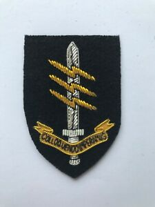 Special Forces Communicator Wire Embroided Beret Badge .. 18 UKSF .. SAS .. SBS