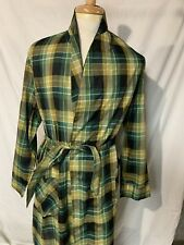 SDO Vtg Robes Of Prescot Green plaid Mens Lightweight Robe 9f276d0ef
