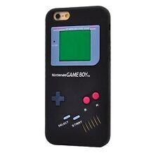 For iPhone 6 / 6S - SOFT SILICONE RUBBER SKIN CASE COVER BLACK GAMEBOY PLAYER