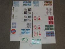 Canada FDC`s 1970`s, Blocks of 4 (11) Lot# C2