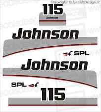 Adesivi motore marino fuoribordo Johnson 115 cv SPL  gommone barca