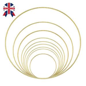 Large Metal Hoop Dream Catcher Wreath Macrame Gold Rings for DIY Decoration UK