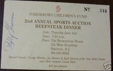 Early 1990s BOBBY THOMSON Signed Sports Auction Ticket, Baseball