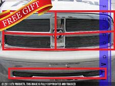 GTG 2009 - 2012 Dodge Ram 1500 5PC Polished Overlay Combo Billet Grille Kit
