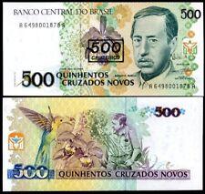Brazil 500 cruzeiros on 500 cruz 1990 p 226 unc