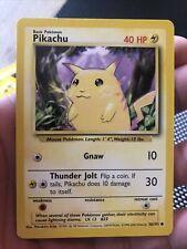 Pokemon Base Set Unlimited 1999-2000 4th Print Pikachu 58 NM