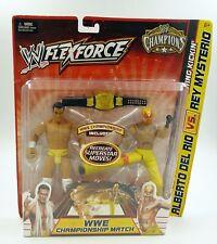NEW WWE FlexForce Champions Action Figures Alberto Del Rio vs. Rey Mysterio