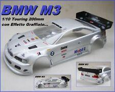 Body Carrozzeria for 1/10 200mm BMW M3 1:10 RC Car Grigio Metal. Painted GREY