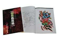Tattoo Flash Book Art A4 -  Colour Flowers + Line Drawings