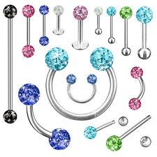 Piercing mit Multi Ferido Kristall Kugeln für Lippe Nase Ohr Brust Zunge Intim