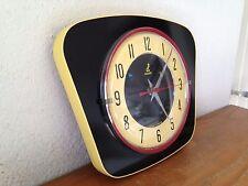 superbe horloge pendule VINTAGE JAZ NOIR / JAUNE  / ROUGE      année 50 60 70