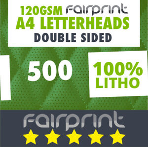 500x  Double Sided Letterheads (120gsm)fp