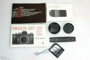 Minolta SR-T 200/201/202 Manual & Accessories Kit