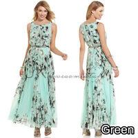 UK Womens Celeb Sexy Floral Long Maxi Dress Ladies Summer Beach Party Sun Dress