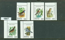 1907-BELARUS-5 Song Birds on Stamps-MNH-1998-Complete Set