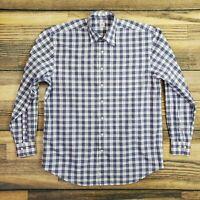 Peter Millar Men's LT Large Tall Plaid Button Down Shirt Long Sleeve Blue & Pink