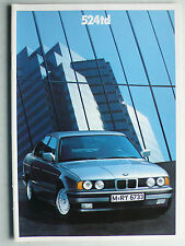 Prospekt BMW 5er E 34 (524TD), 1.1988, 36 Seiten